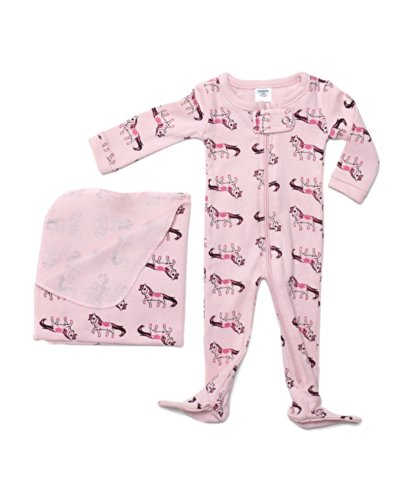 "Leveret Footed ""Horses"" Doll Pajama with Bonus Blanket Fits Most 18 Inch Dolls"