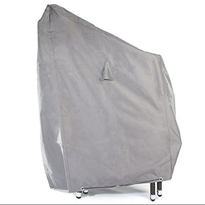 Ultranatura Gewebe-Schutzhülle Sylt für bis zu 6 Stapelstühle, Wetterschutzhülle Gartenstühle