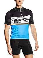 Santini Maillot Ciclismo Fs (Negro / Azul)