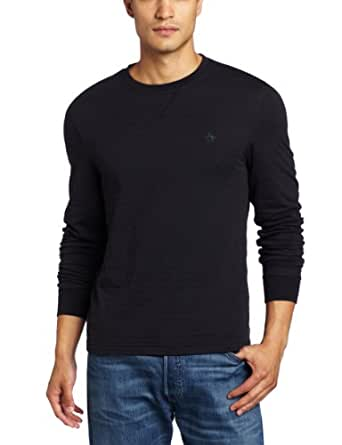 Original Penguin Men's Reversible Bernardo Tee, True Black, Small