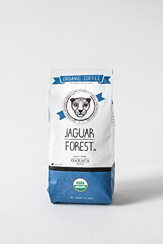 Jaguar Forest Organic Coffee, Oaxaca Mexico, Dark Roast, Whole Bean 12Oz