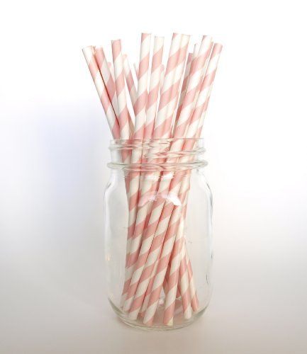 Pink Formal Paper Party Straws - 25 Pack - For Girls' Birthdays, Dance Recitals, Or Kindergarten Graduations front-728192