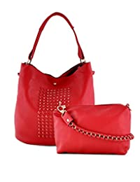 Stol'n-Stylish Faux Leather Red Hand Bag-705Red