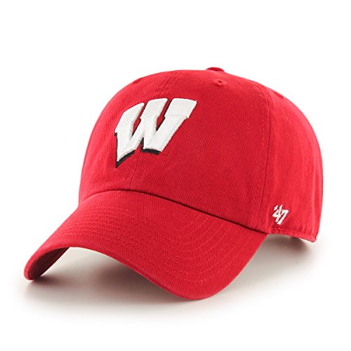 NCAA Wisconsin Badgers '47 Brand Clean Up Adjustable Hat, Red 1, One Size (Wisconsin Cycling Jersey compare prices)