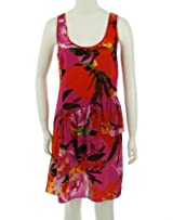 Trina Turk Silk Scoop Neck Dress