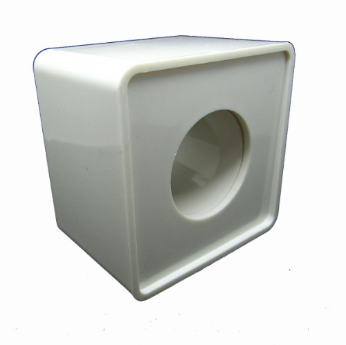 White Abs Mic Microphone Interview Square Cube Logo Flag Station 36Mm Hole