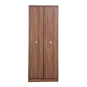 Forzza Westin 2-Door Wardrobe (Walnut)