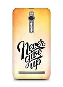AMEZ never give up Back Cover For Asus Zenfone 2