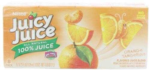 Juicy Juice 100% Juice, Orange Tangerine,8 Count, 4.23-Ounce Boxes (Pack Of 5) front-129686