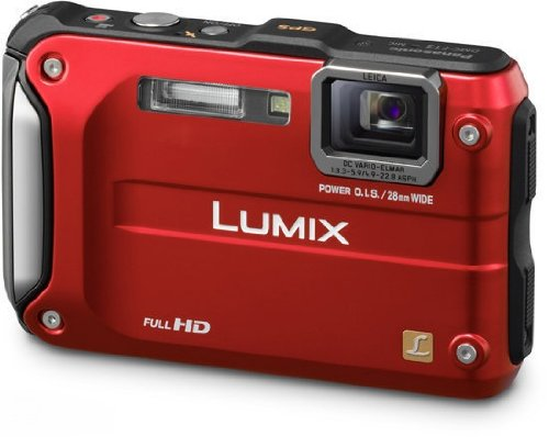 Panasonic Lumix FT3 Waterproof and Shockproof Digital Camera - Red (12.1MP, 4.6x Optical Zoom with GPS)