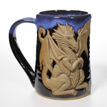 Winged Dragon Tankard Mug in Garcia Blue 24 Oz
