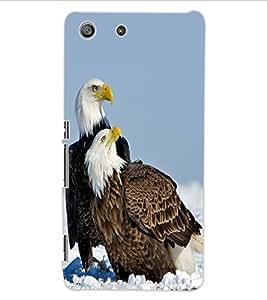 ColourCraft Eagles Design Back Case Cover for SONY XPERIA M5 E5603 / E5606 / E5653