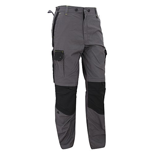 Panoply - Pantaloni da Lavoro - Uomo (XXL) (Grigio/Nero)