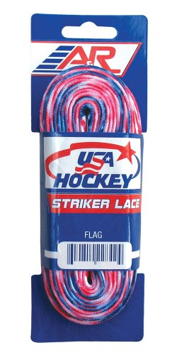 A&R Sports USA Hockey Laces, 84-Inch, USA Flag