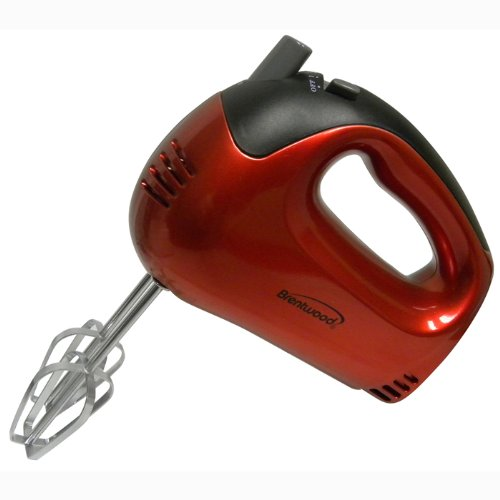 Brand New, Brentwood - 5-Speed Hand Mixer Red (Appliances - Small Appliances And Housewares) front-399091