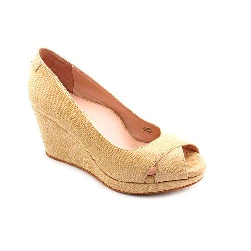 10. Taryn Rose Caylee Open Toe Leather Wedge Heel