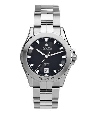 Michel Herbelin Newport Trophy Men's Watch silver/black 12270/B24