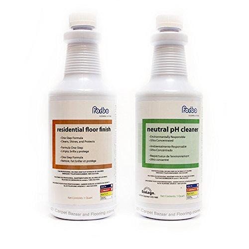 Forbo Marmoleum Floor Cleaner (Quart) and Marmoleum Residential Floor Finish (Quart)