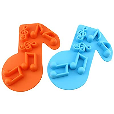 Candy Making Molds, 2PCS YYP Musical Note Silicone Candy Molds for Home Baking - Reusable Silicone Baking Molds for Candy, Cake, Chocolate or More, Set of 2