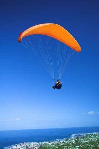 Wallmonkeys Peel and Stick Wall Decals - Paraglider Launching from the Mountain Ridge - 36