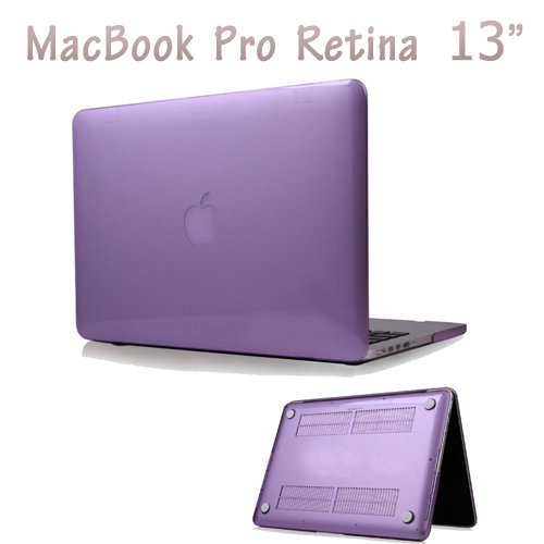 "Easygoby Retina 13-Inch Crystal Hard Case For Macbook Pro 13.3"" With Retina Display (Model No. A1425 /A1502) Shell Cover - Purple"