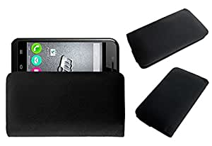 Acm Rich Leather Soft Case For Micromax Bolt S301 Mobile Handpouch Cover Carry Black