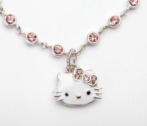 Hello Kitty US limited sales of Hello Kitty pink Swarovski charm bracelet