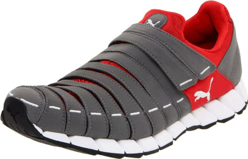PUMA Men's Osu Cross-Training Shoe,Steel Grey/High Risk Red/Grey,9.5 D US