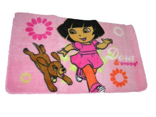 Franco Manufacturing Company, Inc.-Dora The Explorer Puppy Bath Rug