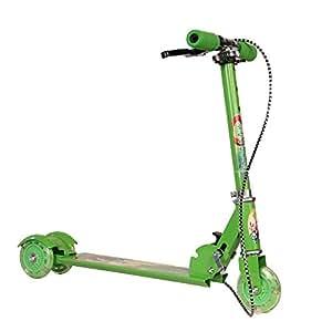 Saffire Kids Green Scooter with Handbrake