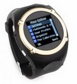 Quad Band Camera Touch Screen Sports Wrist Watch Phone Gold