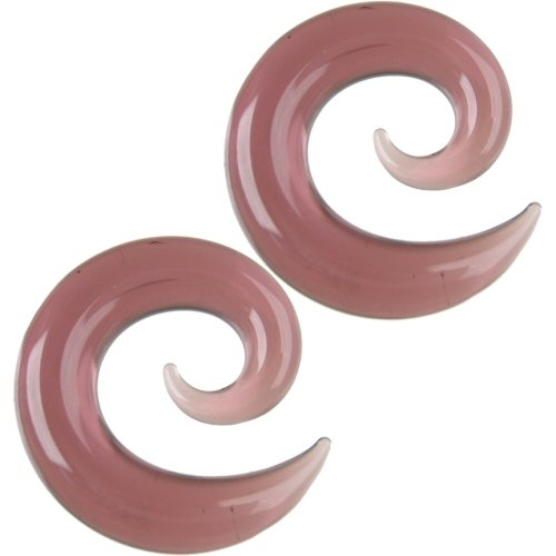 Pair of Glass Spirals: 000g Purple