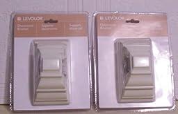 Levolor Decorative Bracket Set of 2, White