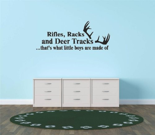 Decal - Vinyl Wall Sticker : Rifles Racks And Deer Tracks ...That