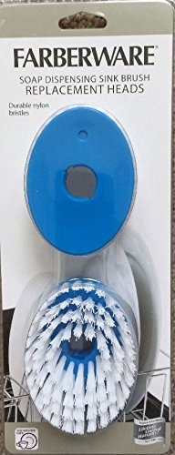 Farberware Soap Dispensing Sink Brush Replacement Heads 2 pack- Blue (Farberware Dish Brush compare prices)