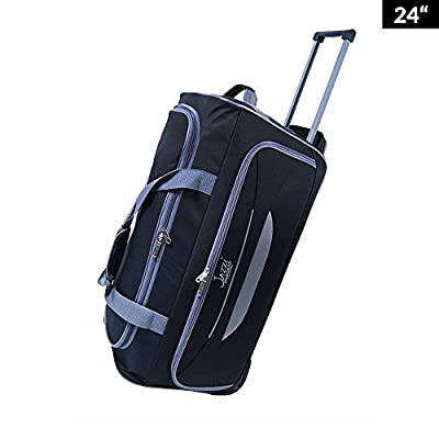"Light Weight Wheeled Holdall Trolley Suitcase Luggage Travel Holiday Bag 24"" 28"" 32"""