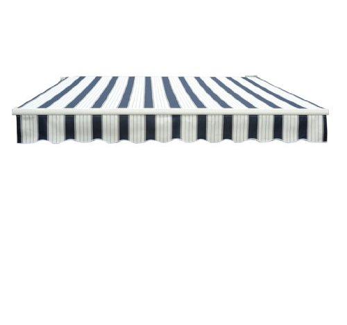 Garden AWNING sun SHADE canopy shelter 3 x 2.5m (Blue/White)