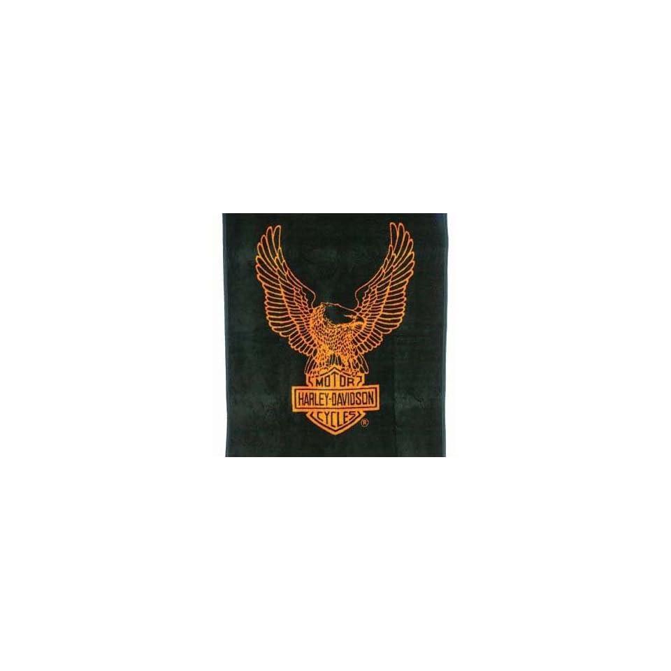Biederlack Harley Davidson Bar & Shield Blanket Throw 60 x 50