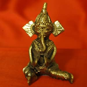 Dhokra Metal Casting Art (3.5'x2.5')-Lord Ganesha DM43GS