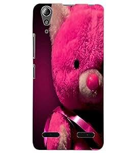 ColourCraft Love Teddy Design Back Case Cover for LENOVO A6000 PLUS