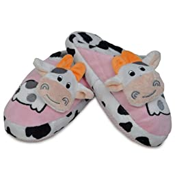 Pop Up Cow Design Slipper Pink Size J9