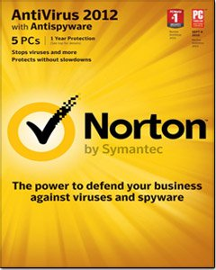 Norton AntiVirus 2012 for 5 PCs