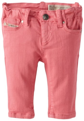 Save Price Diesel Baby-Girls Infant Grupeen Colored Denim Stretch Jean, Geranium Pink, 12 Months