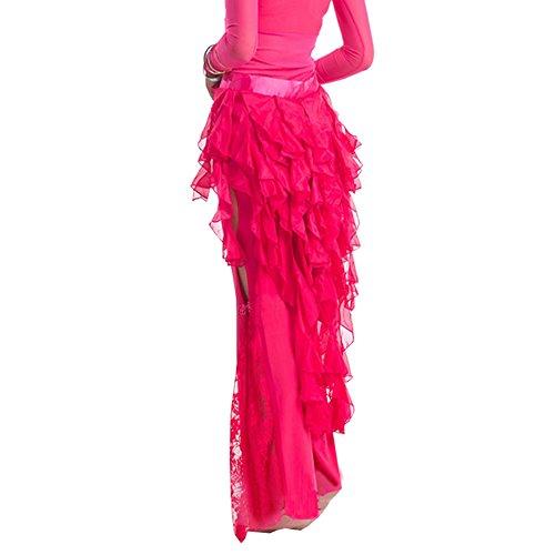 Shineweb Chiffon Belly Dance Hip Scarf , Tribal Egypt Style Belly Dance Skirt ,Fashion Style (Hot Pink)