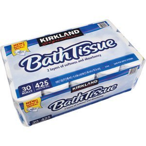 Kirkland Signature Embossed Bath Tissue, 30 Rolls, 425 Sheets Per Roll (096619585571)
