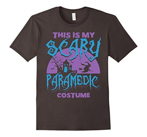 Men's  Paramedic Halloween  Shirts: This Is My Scary Paramedic cos Medium Asphalt (Paramedic Costume)