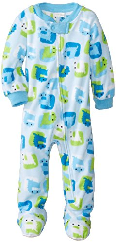 Absorba Baby-Boys Infant Monster Sleeper, Blue Print, 24 Months front-949997
