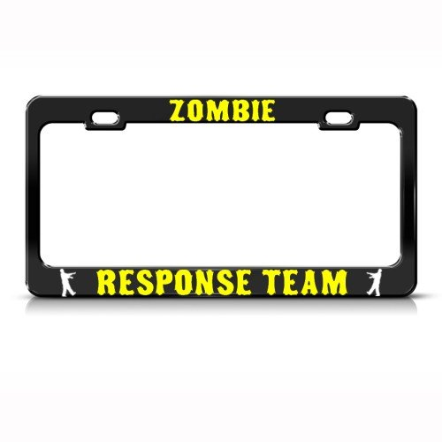 Zombie Zombies Response Team Metal License Plate