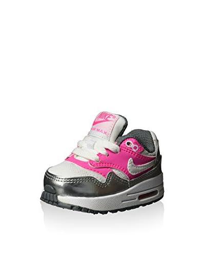 Nike Sneaker Air Max 1 Klein [Rosa/Argentato/Bianco]