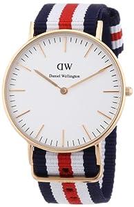 Daniel Wellington 0502DW - Reloj analógico de cuarzo para mujer con correa de nylon, color multicolor marca Daniel Wellington